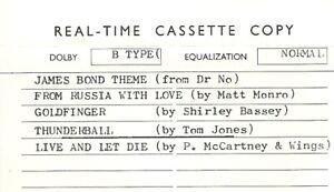 Various - James Bond 25th Anniversary Reissue. Promo  Cassette Tape