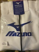 Mizuno Womens White/ with Black pinstripe Belted Softball Pants Size Small