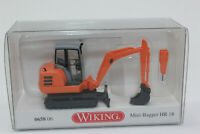 Wiking 065806 Mini-Bagger HR 18 - kommunalorange  1:87 H0 NEU in OVP