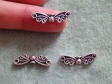 20 Papillon Perles Entretoises tibétain Tibet Argent Antique Wholesale 20 mm UK BC62