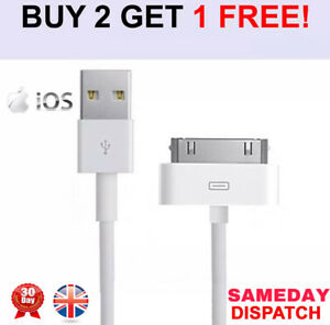 Genuine Charging Cable Charger Lead for Apple iPod,iPad2&1 iPhone 4,4S,3GS OEM