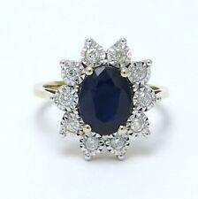 Diamond Cluster Sapphire Fine Rings