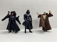 Star Wars Darth maul-Darth Vader- Obi Wan Kenobi  action figure 3.75 LOT