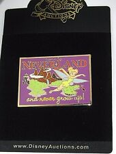 Rare Le 100 Disney Auction Pin✿Tinker Bell Tink Postcard Neverland Never Grow Up