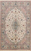 Floral Ivory Ardakan Traditional Oriental Area Rug Wool hand-knotted 5x7 carpet