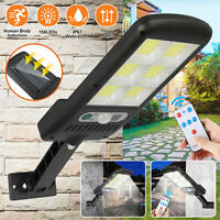 Waterproof Solar Powered LED Street Light Motion Sensor Remote Control Wall Lamp