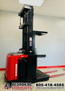 """QTY 7: Refurbished 2016 Raymond Electric Order Pickers   366"""" Mast   LOW HOURS"""