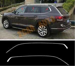 Stainless Chrome Upper window strip trim 6pcs For Volkswagen Atlas 2018-2019