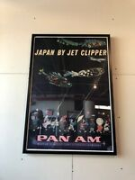 Vintage Airline Poster - Pan-Am Airlines, Japan By Jet Clipper