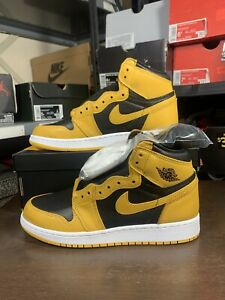 Air Jordan 1 Retro High OG GS Pollen Yellow Black White 575441-701 Size 6Y