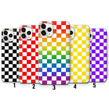 Checkered phone case for iPhone 5 - 12 Pro Max