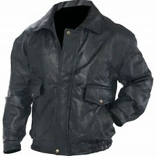 Mens/womans Real Genuine Leather Motorcycle Riding Bomber Jacket Size Medium M