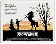 THE MAN FROM SNOWY RIVER Movie POSTER 22x28 Half Sheet Kirk Douglas Tom