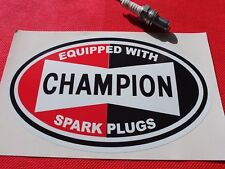 Large Champion spark plugs sticker