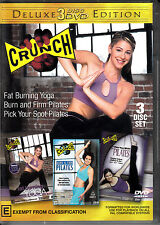 D4 Crunch : Fat Burning Yoga, Burn & Firm Pilates, Pick Your Spot Pilates 3 DVD
