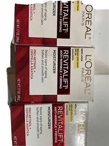 3X L'Oreal Revitalift AntiWrinkle+Firming Day CreamMoisturizer, 1.7 oz Exp 8/21+