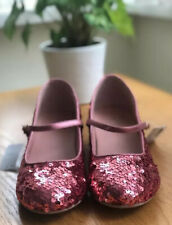 New Next Womens Girls Pink Sequin Mary Jane Low Heel Shoes Dancing Size 6 EUR 39