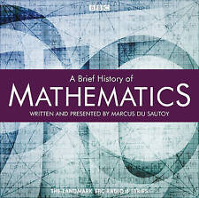 A BRIEF HISTORY OF MATHEMATICS - COMPLETE RADIO 4 SERIES -  NEW/SEALED AUDIO CD