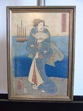 Kunisada 2 Japanische Farbholzschnitte 1850