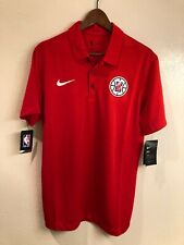 NWT Los Angeles Clippers authentic Nike Dri-Fit polo shirt (size: M)