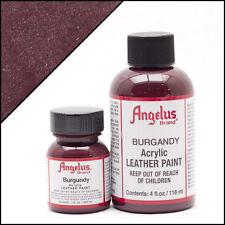 Angelus Burgundy acrylic leather paint 1 oz. bottle