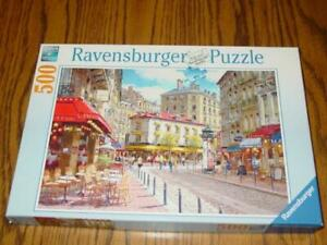 "Ravensburger Puzzle - ""QUAINT SHOPS"" Europe - 500 Pieces - 2010 - Excellent -"