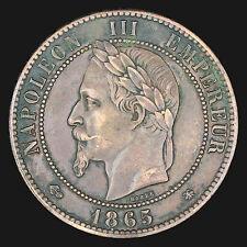 France : 10 centimes 1865 A / Napoléon III tête nue :(franco de port)