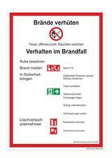 Brandschutzordnung Teil A Brände verhüten Schild DIN 14096 Aushang Brandschutz