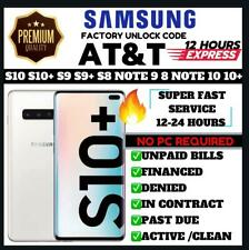 AT&T Premium Unlock Code Service For AT&T Samsung Galaxy NOTE 9 S10 S9 NOTE 8