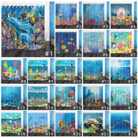 "72"" Fantasy Underwater World Shower Curtain Bathroom Waterproof Fabric & 12 Hook"