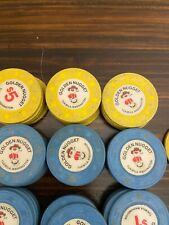 102 Golden Nugget Tukwila, Wa Paulson Casino Chips $1 & $5