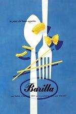 MID CENTURY 1950'S ITALIAN PASTA ADVERTISEMENT  POSTER A3 REPRINT