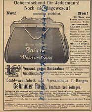 GRÄFRATH Prospekt 1903 Gebrüder Rauh Stahl-Waren-Fabrik Versand-Haus Vexir Leder
