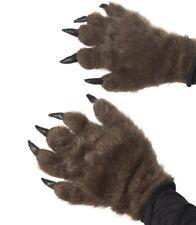 Movie Fancy Dress Werewolf Hands Monster Gloves Brown by Smiffys