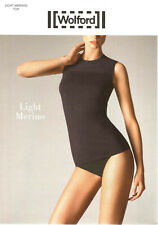LUXUS PUR: WOLFORD Top LIGHT MERINO (51397), M, black, NEU&OVP 145,00