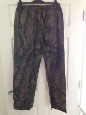 df44a935a9f33 Realtree Waterproof Trousers Camo Fishing Shooting Hunting Carp Stormproof  Med
