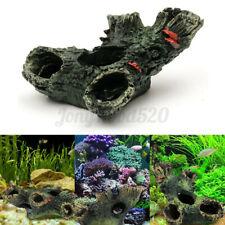 New listing Aquarium Fish Tank Ornament Rockery Hiding Cave Underwater Landscape Decoration
