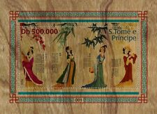Sao Tome 2019 art Four beauties in ancient China Wood s/s