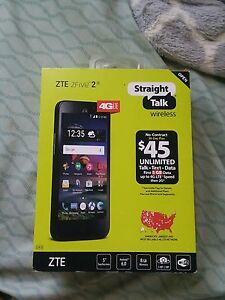 Straight Talk ZTE zfive 2 Smartphone NEW