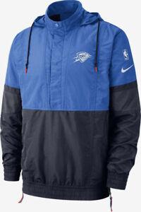 Nike Thunder Basketball Jacket NBA Oklahoma Men's Courtside Jacket - Blue - New