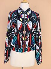 Bebe Blouse Jacket Blazer Black Multi S NWOT
