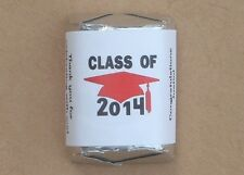 30 PERSONALIZED CLASS OF 2014 GRADUATION PARTY CANDY WRAPPERS SUPPLIES STICKER