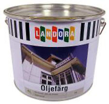 16,73 €/Liter,   4Liter industrielle Leinölfarbe Weiss ideal zu Schwedenrot