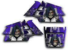 YAMAHA BANSHEE GRAPHICS DECAL KIT GRIM REAPER REVENGE STICKER WRAP SHROUDS BLUE