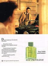 PUBLICITE ADVERTISING 054  1988  GUCCI  parfum homme NOBILE
