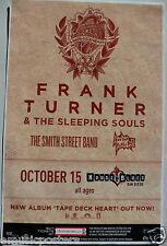 """FRANK TURNER """"TAPE DECK HEART TOUR"""" 2013 SAN DIEGO CONCERT POSTER -Alt Folk Rock"""