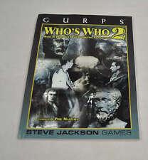 GURPS Who's Who 2 SC Book Steve Jackson Games RPG Sourcebook