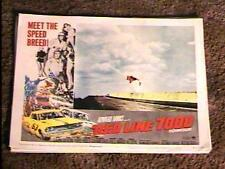 RED LINE 7000 '65 LOBBY CARD #1 CAR RACING