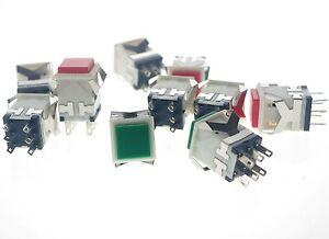 10Pcs Square Switch  Self Locking Push Button Switch KD2-23