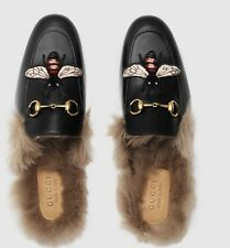 NEW 2017 Gucci Bee Princetown Slipper 100% Auth,jordaan,brixton,sneakers,loafers